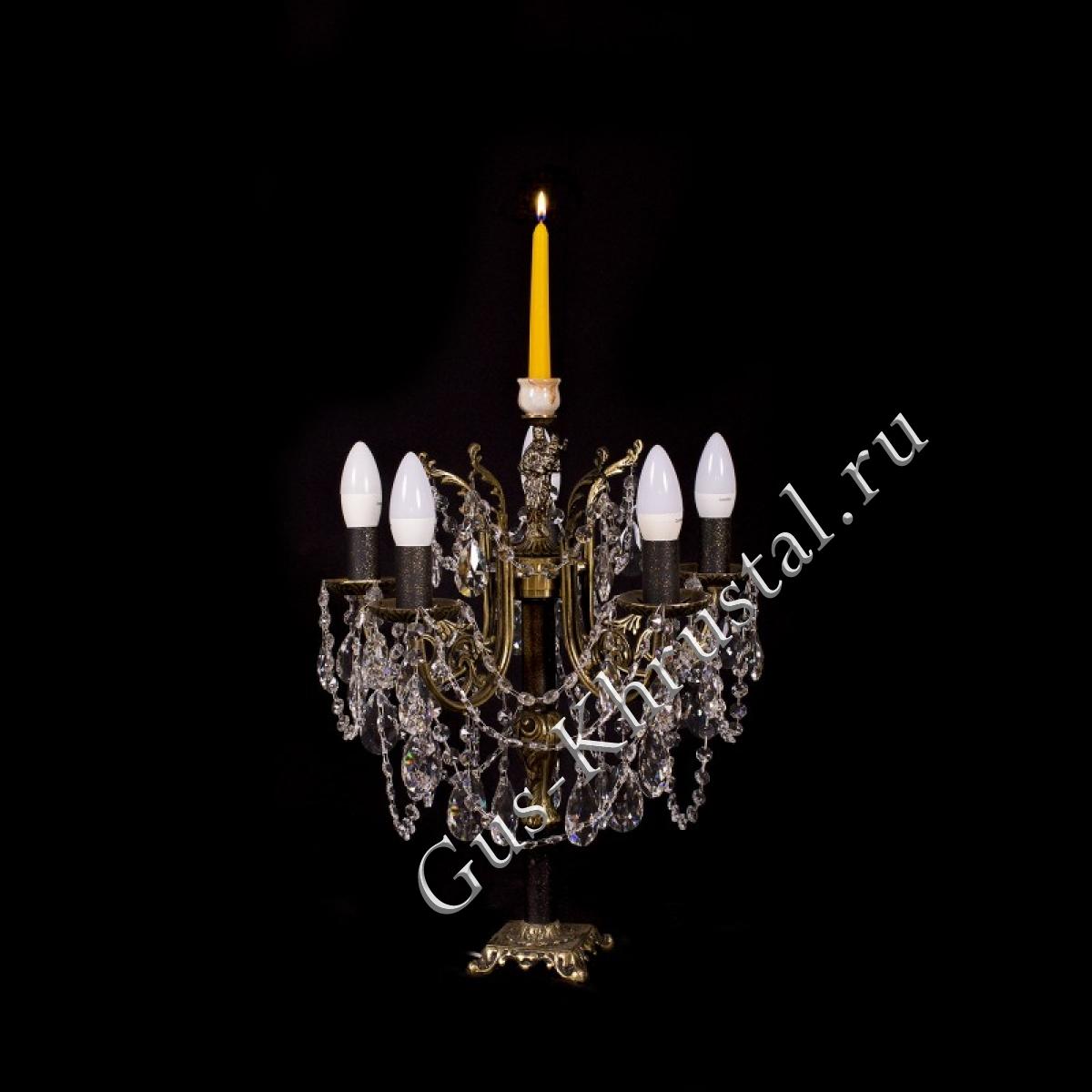 Настольная лампа бронзовая  №1 (5 ламп)